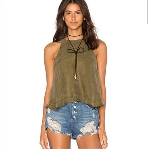 Revolve Line & Dot Olive Green Musee Tank Top